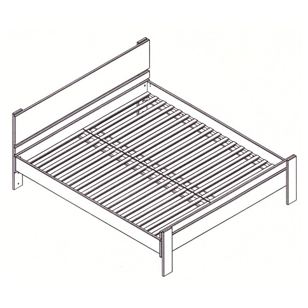 Masívna buková manželská posteľ 160x200cm / 160x220cm 2-2011-06