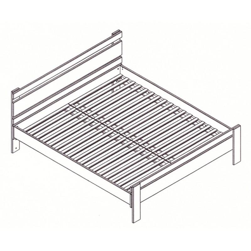 Masívna buková manželská posteľ 160x200cm / 160x220cm 2-2011-08