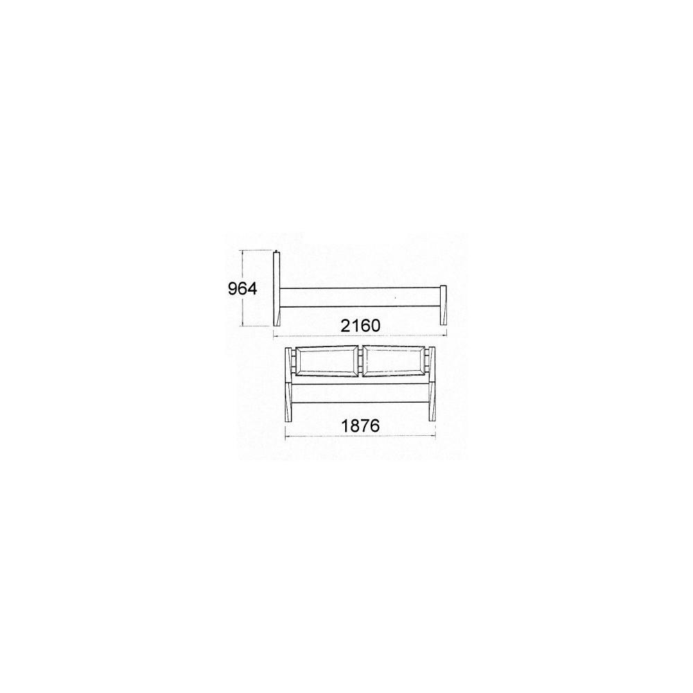 Masívna buková manželská posteľ s deleným čelom 180x200cm 2-2014-01