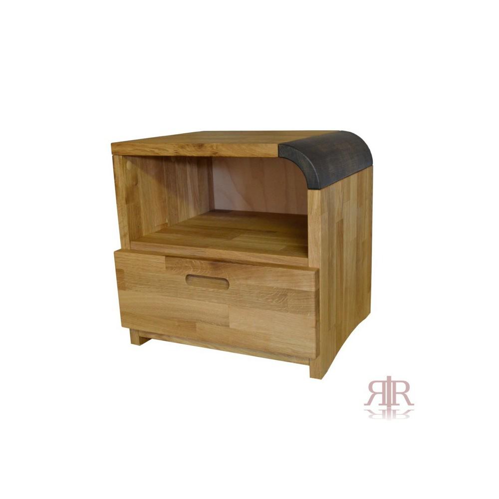 Masívny dubový nočný stolík so zásuvkou Duna 15 - 1102A