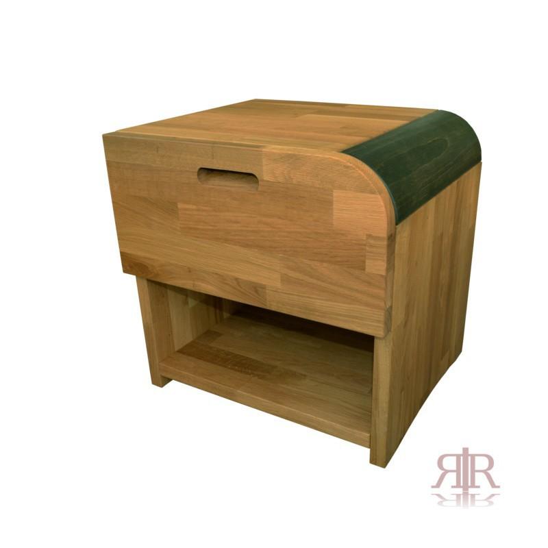 Masívny dubový nočný stolík so zásuvkou pravý Duna 15 - 1103A