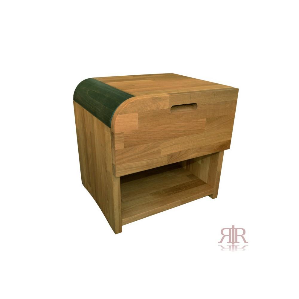 Masívny dubový nočný stolík so zásuvkou ľavý Duna 15 - 1103B