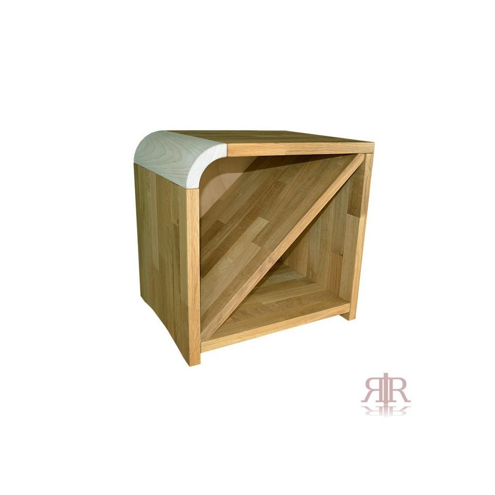 Masívny dubový nočný stolík ľavý Duna 15 - 1101B