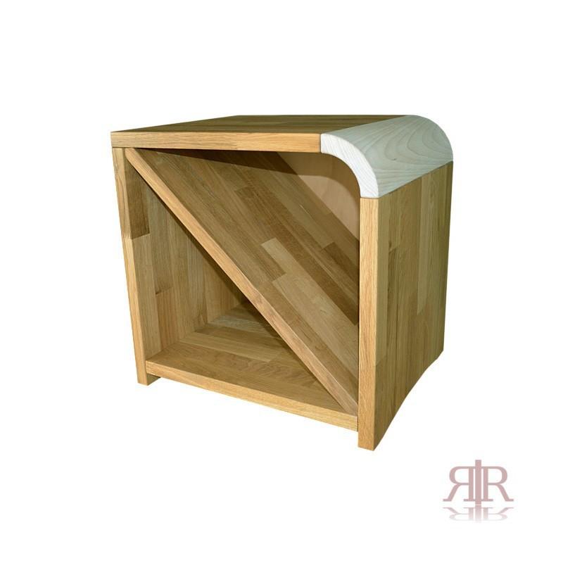 Masívny dubový nočný stolík pravý Duna 15 - 1101A