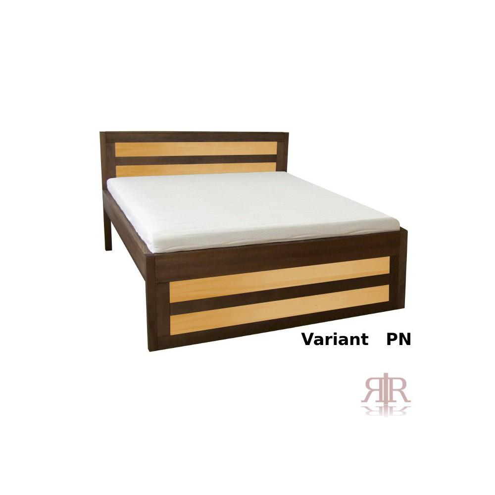 Masívna vyvýšená buková manželská posteľ 180x200cm 2-2010-03