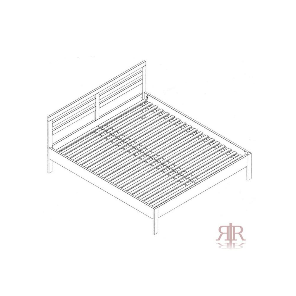 Masívna buková manželská posteľ 180x200cm 2-2016-02