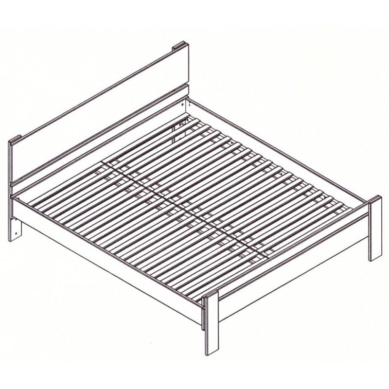 Masívna buková manželská posteľ 180x200cm /180x220cm 2-2011-05