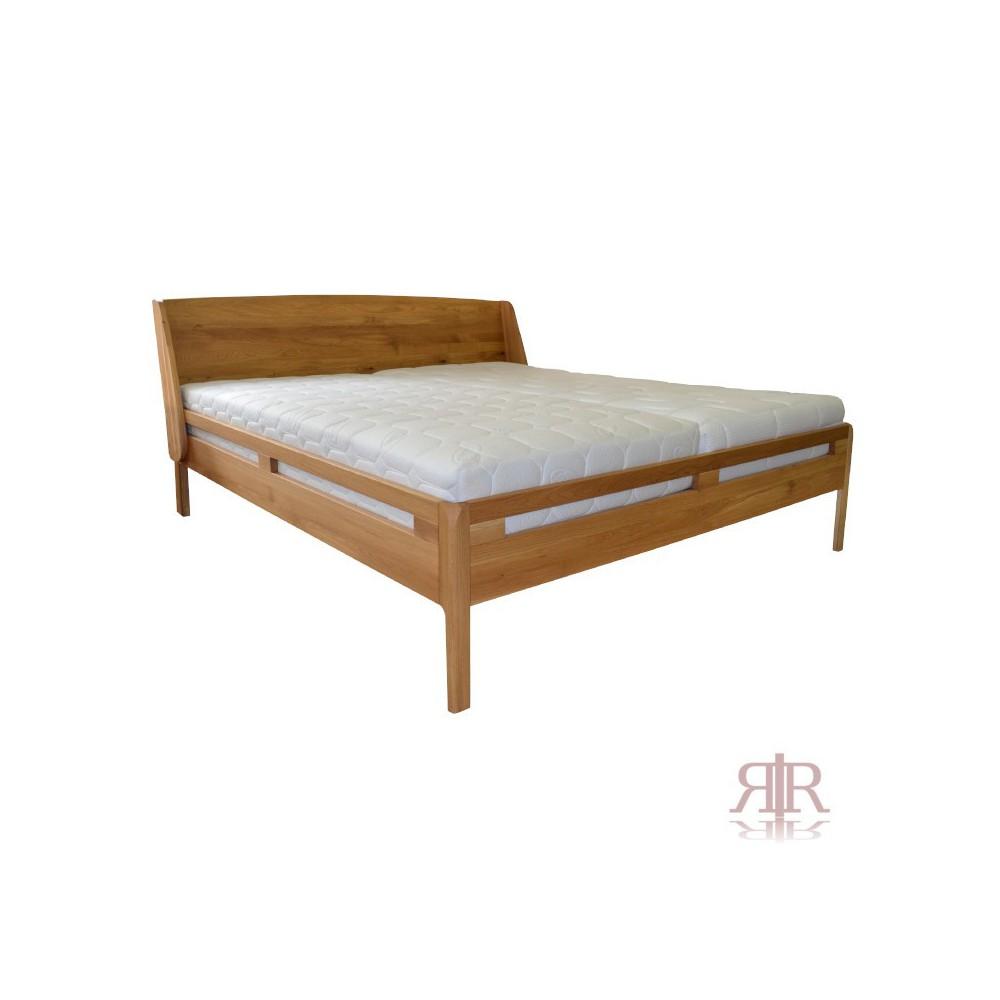 Masívna dubová manželská posteľ s polohovateľným čelom 2-2017-02