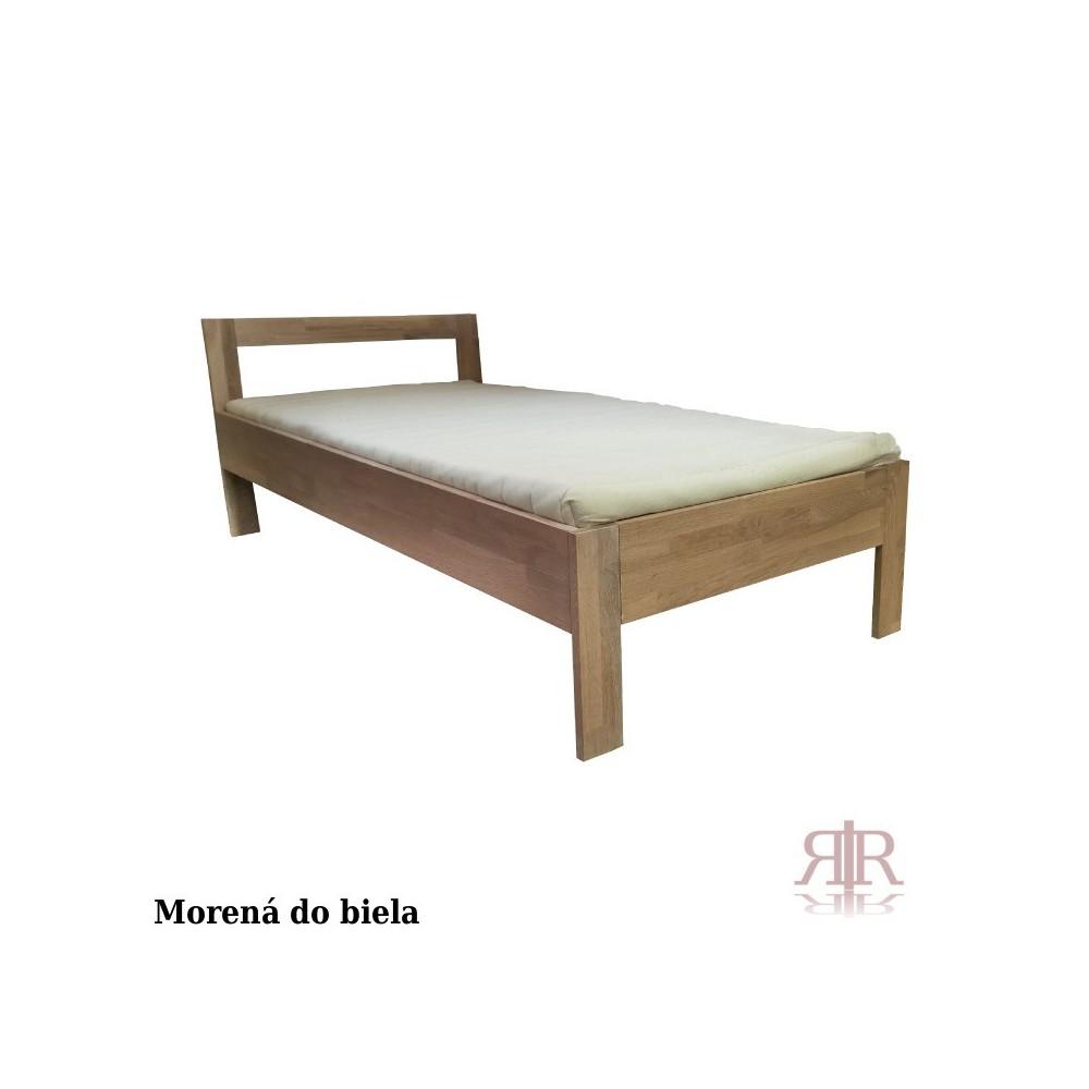 Masívna dubová jednoposteľ 90x200cm 2-2019-01
